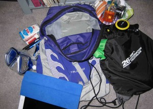 My backpack and its contents