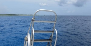 View from our dive boat