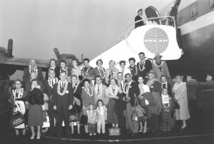 Flying to Hawaii in the early 60's