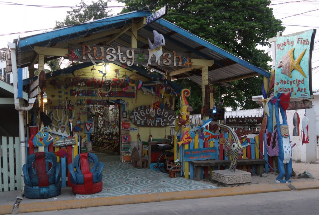 Local Artisans in West End, Roatan